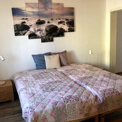 Schlafzimmer für 2 Personen, Doppelbett mit zwei 90 x 200-Matratzen