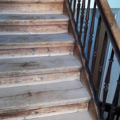 Treppe im Originalzustand